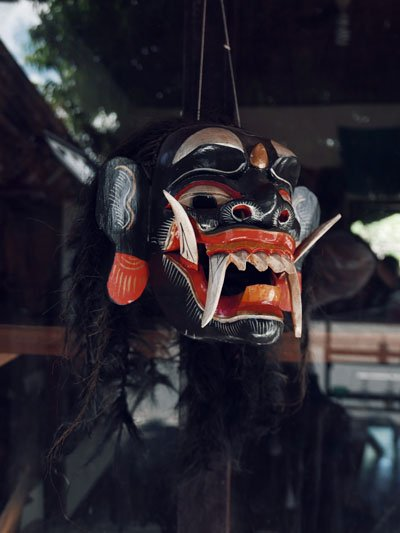 bali arts mask hindu own villa