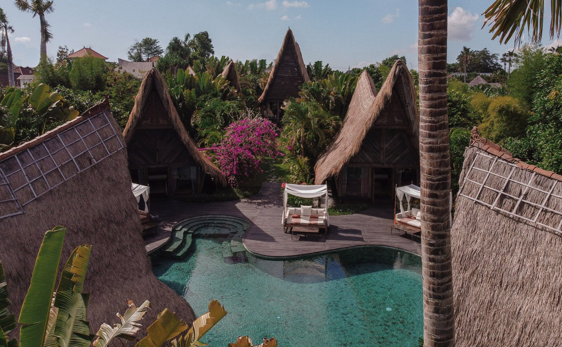 own villa bali canggu eco living resort front pool villas